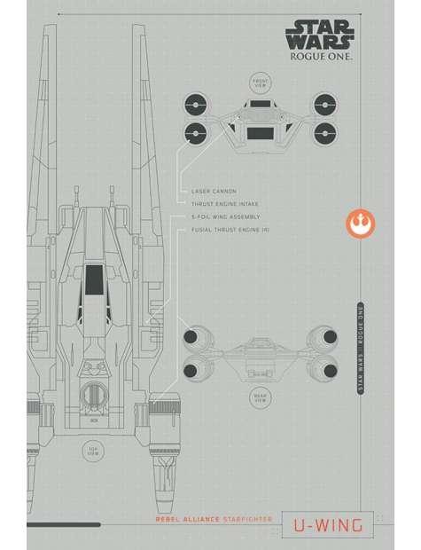 Star Wars Gwiezdne Wojny Łotr 1 (U-Wing Plans) - plakat