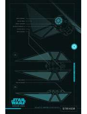 Star Wars Gwiezdne Wojny Łotr 1 (Striker Plans) - plakat
