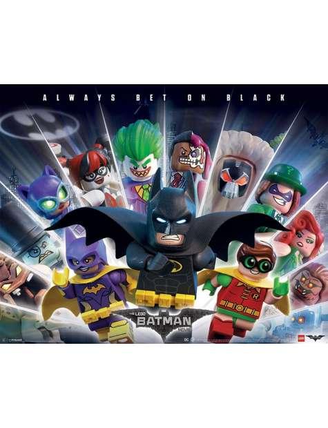 Lego Batman Always Bet On Black - plakat