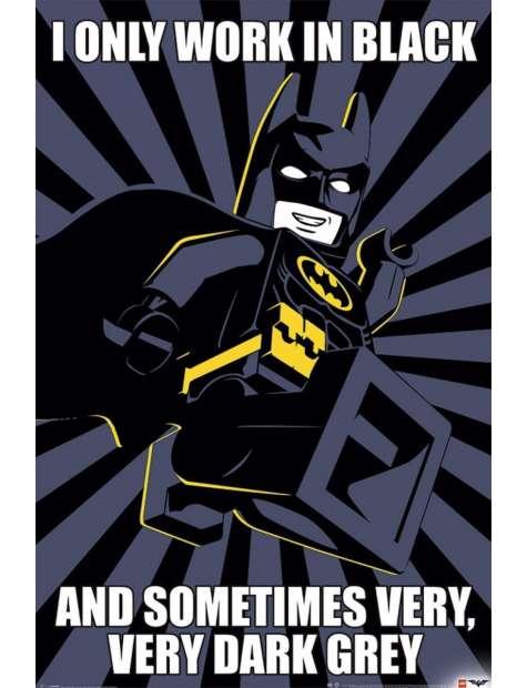 Lego Batman I Only Work in Black - plakat