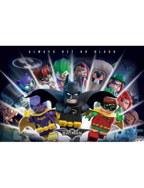 Lego Batman Always Bet On Black - plakat