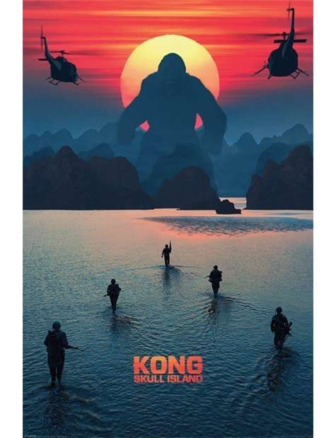 King Kong Wyspa Czaszki - plakat