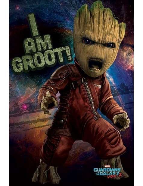 Strażnicy Galaktyki vol. 2 Wściekły Groot - plakat