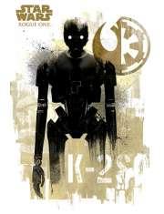 Star Wars Gwiezdne Wojny Łotr 1 (K-2S0 Grunge) - plakat