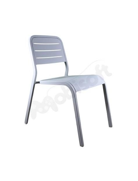 Krzesło Aluminiowe ALU152 49x69x82 jasne szare-22535