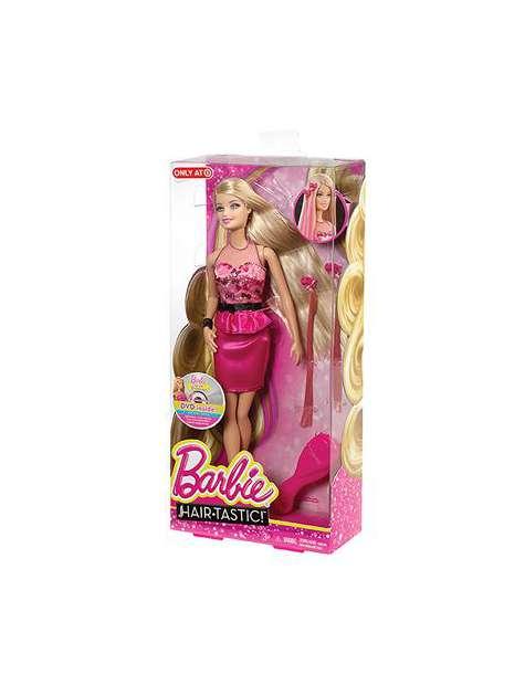 Barbie Bajeczne Fryzury Różowa Sukienka CBW36-22902