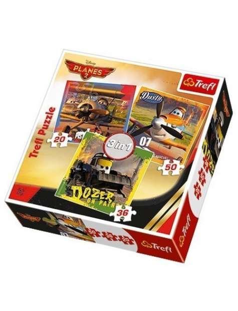 Trefl Puzzle 34197 Planes Samoloty 2 Pożar 3w1
