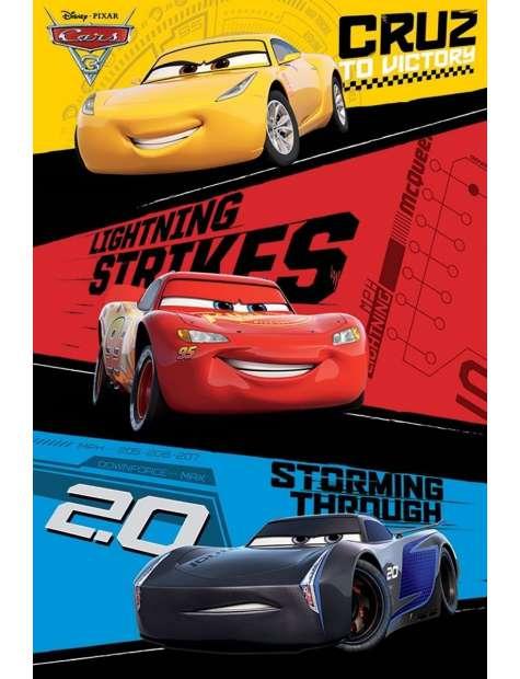 Cars 3 - plakat z filmu
