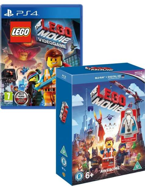 Lego The Movie Game and Blu Ray Double Pack PS4-24315