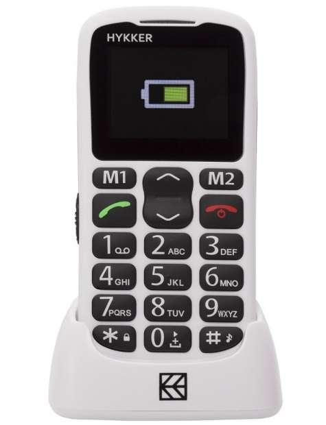 Telefon Hykker Halo biały-25184