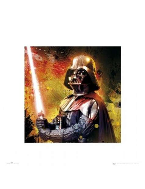 Gwiezdne Wojny Star Wars vader splatter - plakat premium