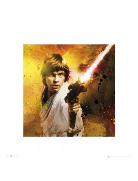 Gwiezdne Wojny Star Wars luke splatter - plakat premium