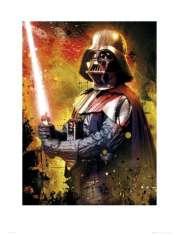 Star Wars Gwiezdne Wojny vader splatter - plakat premium