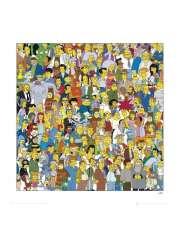 The Simpsons Bohaterowie - plakat premium