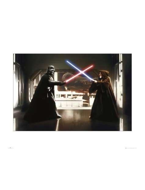 Gwiezdne Wojny Star Wars vader vs obiwan - plakat premium