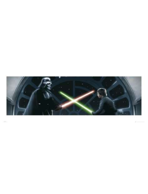 Gwiezdne Wojny Star Wars vader vs luke - plakat premium