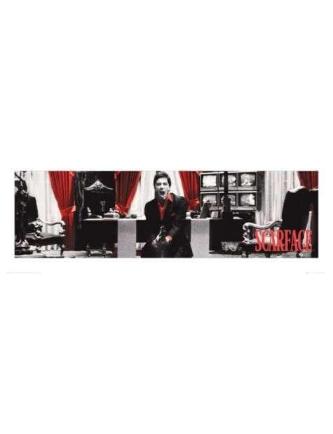 Scarface Człowiek z blizną - red - plakat premium