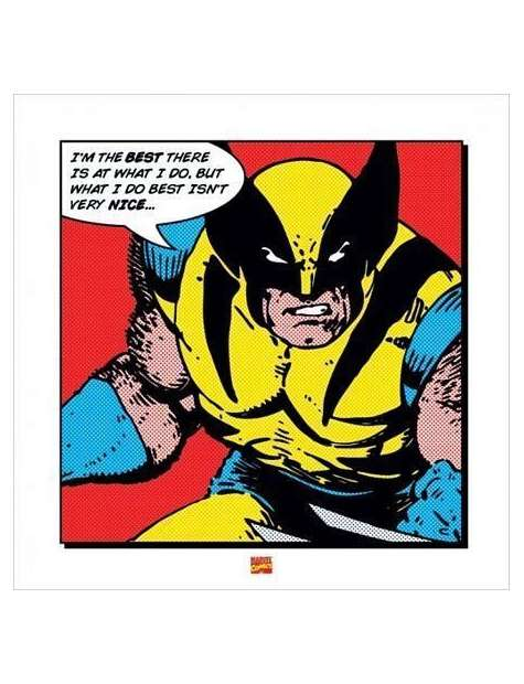 Wolverine I'm The Best - plakat premium