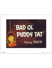 Tweety Bad Ol Puddy Tat - plakat premium