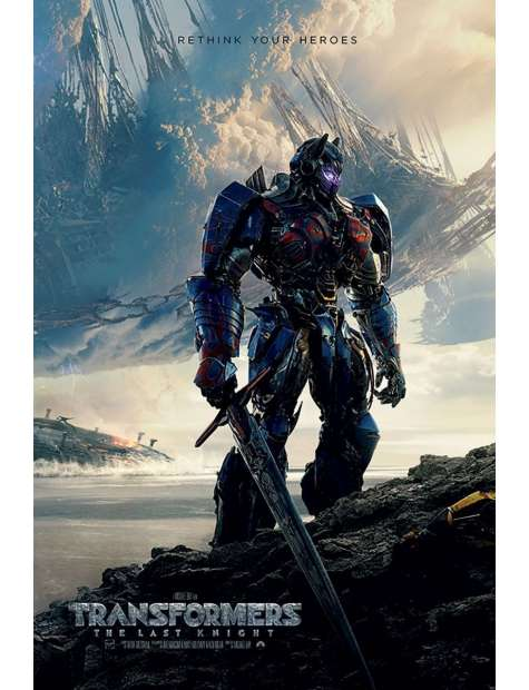 Transformers The Last Knight Rethink - plakat filmowy