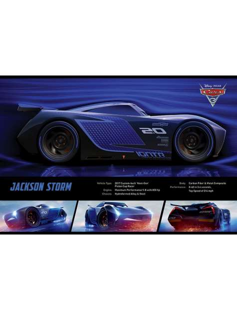 Auta 3 Jackson Storm - plakat z filmu