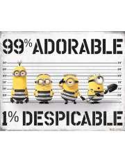 Gru, Dru i Minionki 99% Adorable 1% Despicable - plakat filmowy