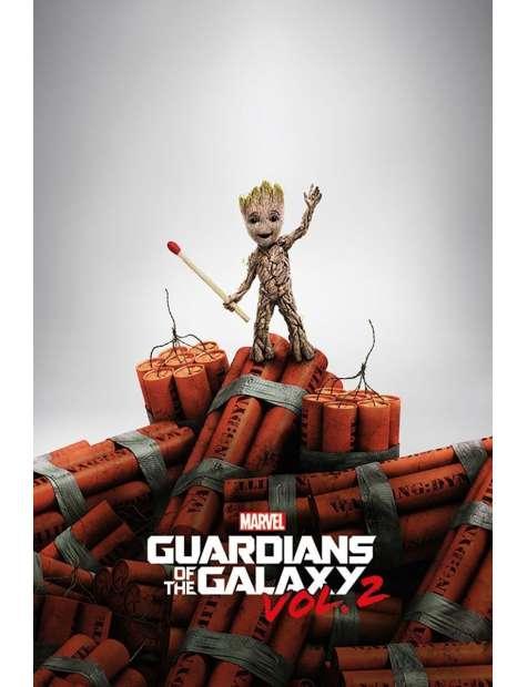Strażnicy Galaktyki 2 Groot Dynamite - plakat z filmu