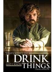 Gra o Tron Tyrion I Drink - plakat z serialu