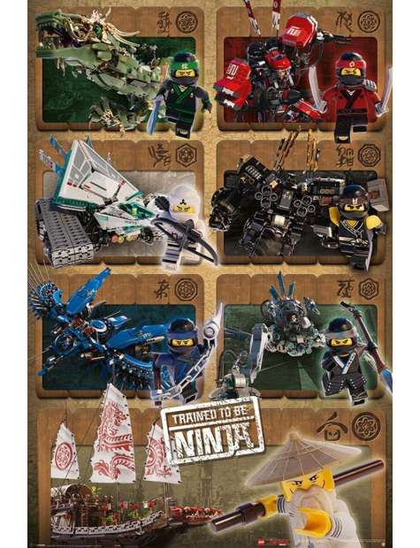 LEGO® Ninjago Movie Ninjas &amp Mechs - plakat z filmu