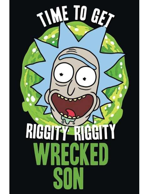 Rick and Morty Wrecked Son - plakat