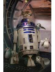 Star Wars Gwiezdne Wojny Ostatni Jedi Porgs and R2-D2 - plakat