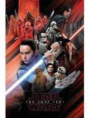 Star Wars Gwiezdne Wojny Ostatni Jedi Bohaterowie - plakat