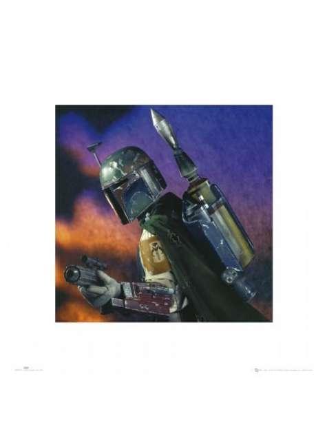 Gwiezdne Wojny Star Wars boba fett - plakat premium