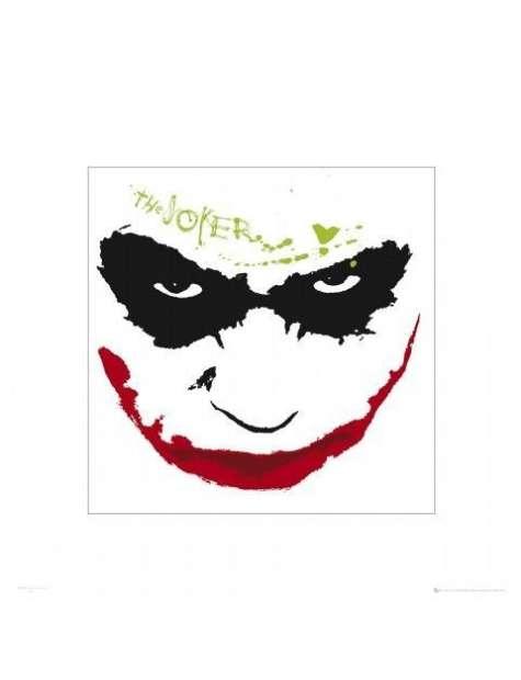 Batman Mroczny Rycerz Joker grin - plakat premium