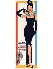 Audrey Hepburn - Śniadanie u Tiffanego - retro plakat