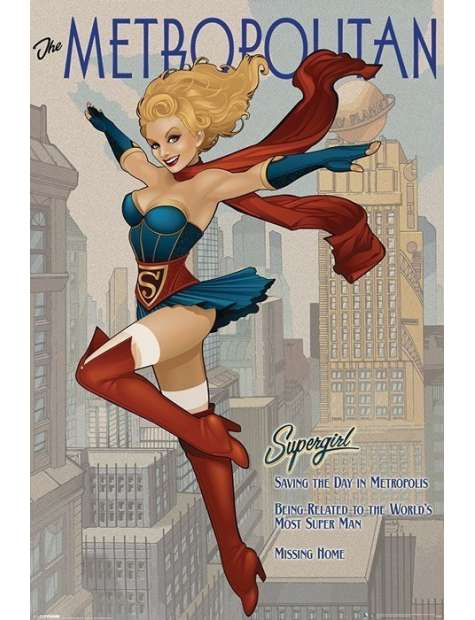 DC Supergirls - The Metropolitan - plakat