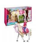 Lalka Barbie i Interaktywny Koń FRV36 Mattel