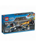 Klocki Lego City 60151 Transporter Dragsterów