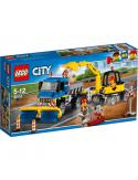 Klocki Lego City 60152 Zamiatacz Ulic i Koparka