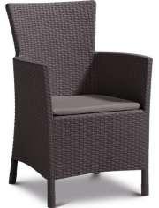 Fotel/ Krzesło Ogrodowe Poliratan lowa Dining Brąz