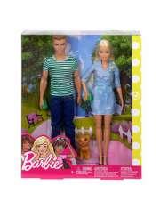 Lalka Barbie i Ken Spacer z Pieskiem FTB72-36000