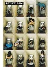 Kamera w Toalecie Toilet cam - zabawny plakat