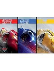 Auta 3 Zygzak McQueen Jackson Storm i Cruz Ramirez - plakat