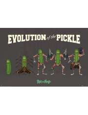 Rick and Morty Evolution Of The Pickle Rick - plakat
