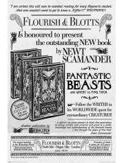 Fantastyczne Zwierzęta Zbrodnie Grindelwalda Flourish And Blotts - plakat