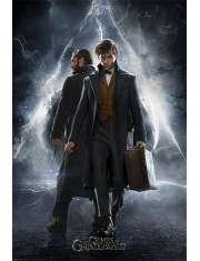 Fantastyczne Zwierzęta Zbrodnie Grindelwalda Newt i Dumbledore - plakat