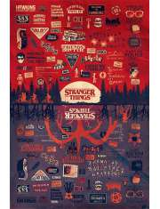Stranger Things The Upside Down - plakat