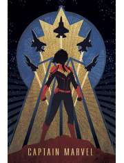 Kapitan Marvel Art Deco - plakat