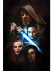 Star Wars Gwiezdne Wojny - The last Jedi - plakat premium