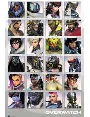Overwatch Character Portraits - plakat